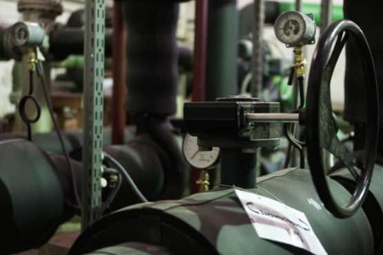 Шаровый кран с коробкой передач